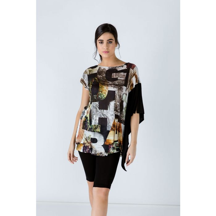 Image for Asymmetric Print Tunic