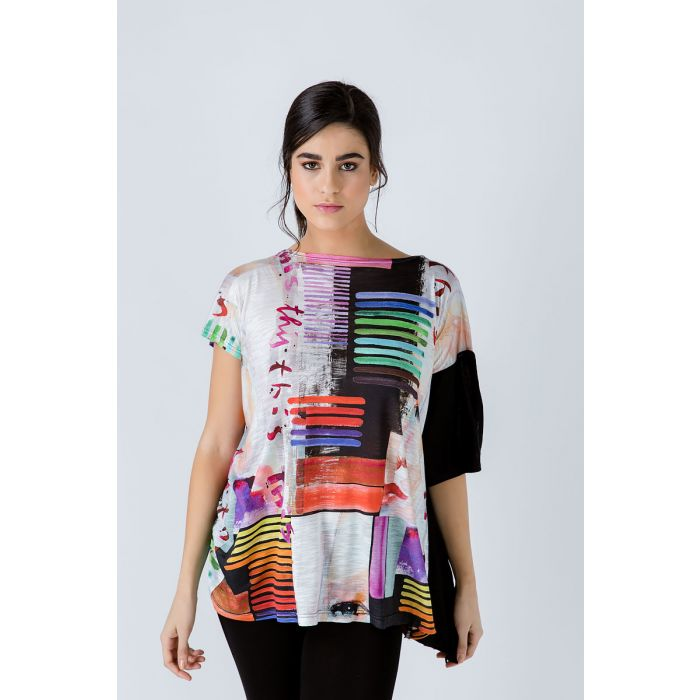 Image for Asymmetric Summer Print Tunic
