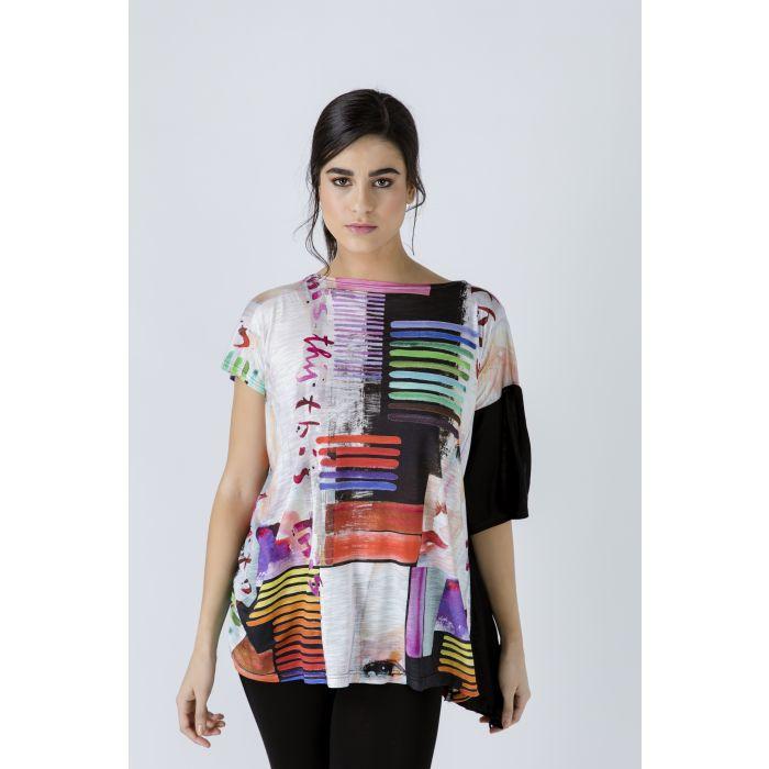 Image for Asymmetric Summer Print Tunic