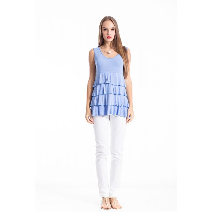 Image for Sleeveless Tiered Frill Top