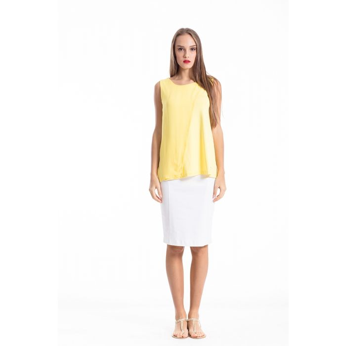Image for Sheer Detail Sleeveless Stretch Top