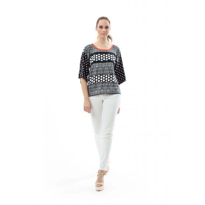 Image for Round Neck Print Top