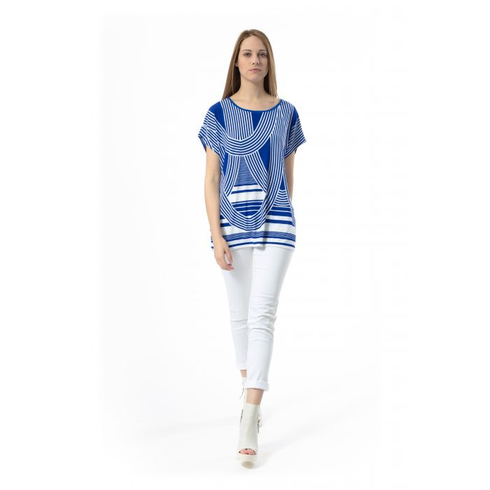 Image for Short-Sleeved Print Top