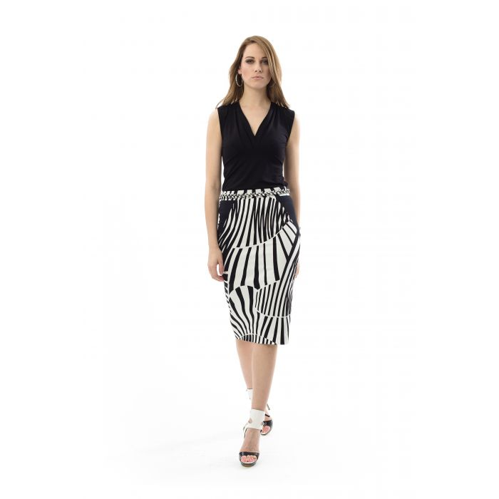 Image for Faux Wrap Sleeveless Top