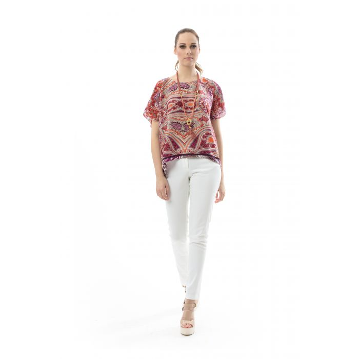 Image for Short Sleeved Print Top