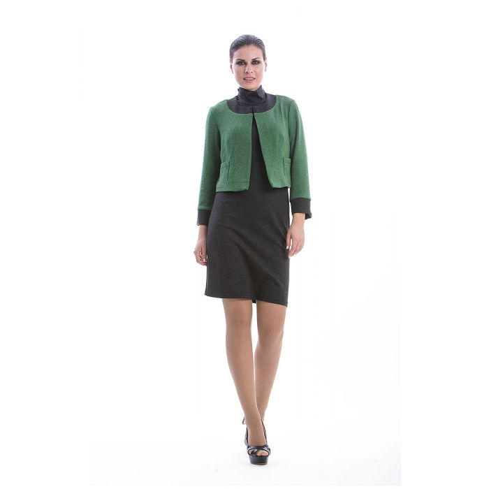 Image for Green Long Sleeve Bolero