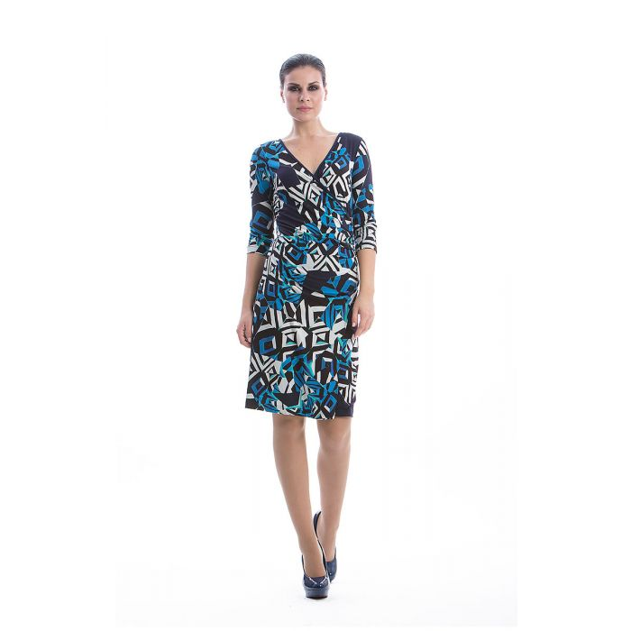 Image for Abstract Print Crossover Dress