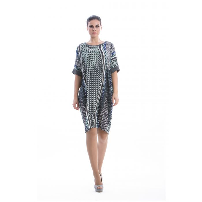 Image for Geometric Print Oversized Dress