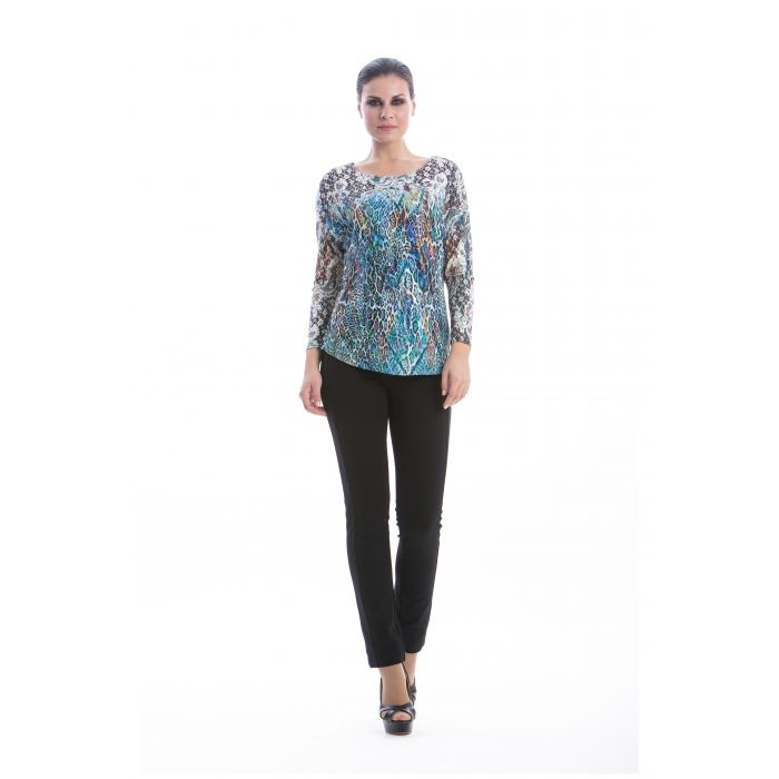 Image for Patterned Long Sleeve Top