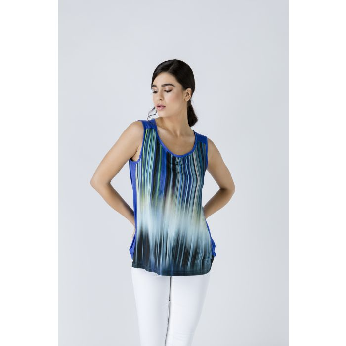 Image for Sleeveless Print Top