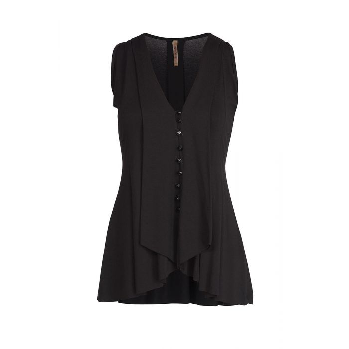Image for Sleeveless Top with Button Detail