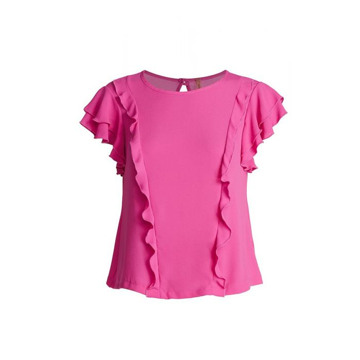 Image for Frill Detail Short Sleeve Top
