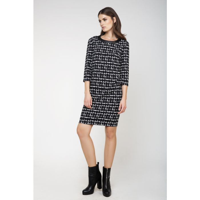 Image for Black and White Sack Dress