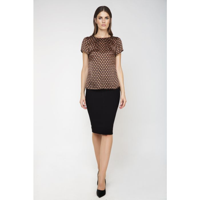 Image for Short Sleeve Silk Top