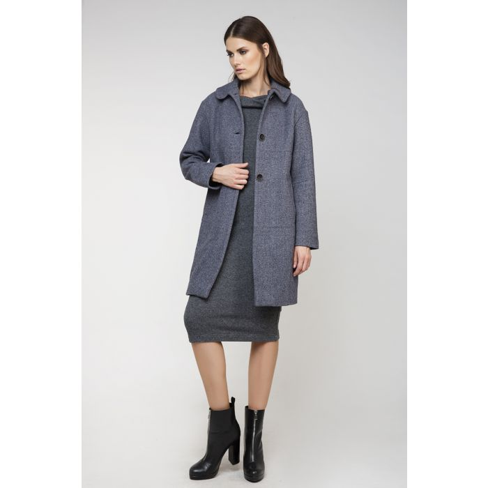 Image for Gray Wool Straight Coat