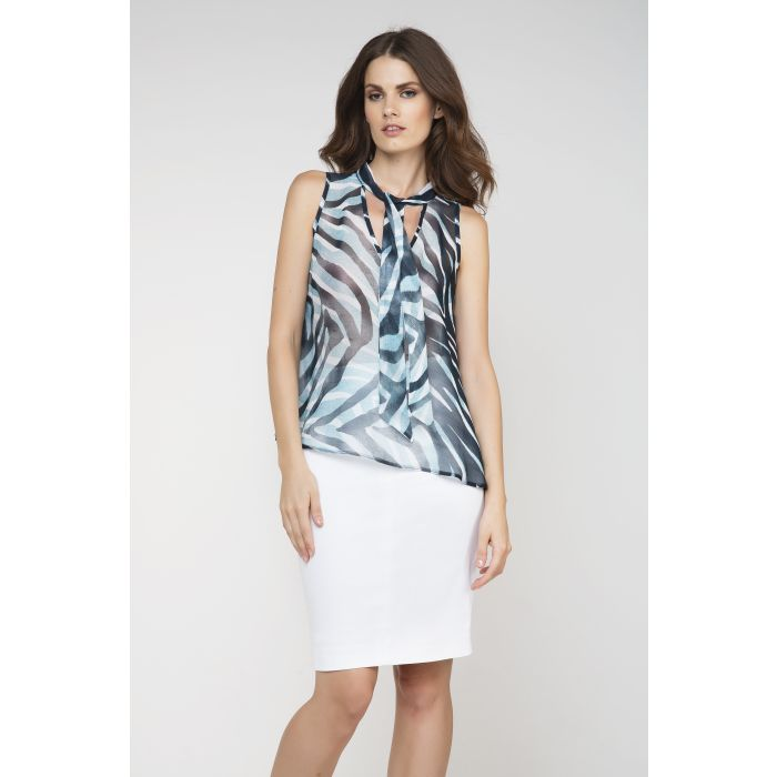 Image for Sleeveless Tie Detail Top