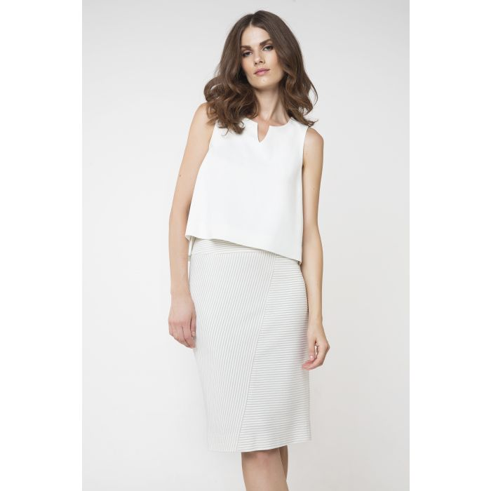 Image for Cream Pencil Skirt