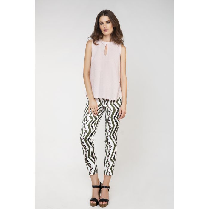 Image for Fitted Print Trousers