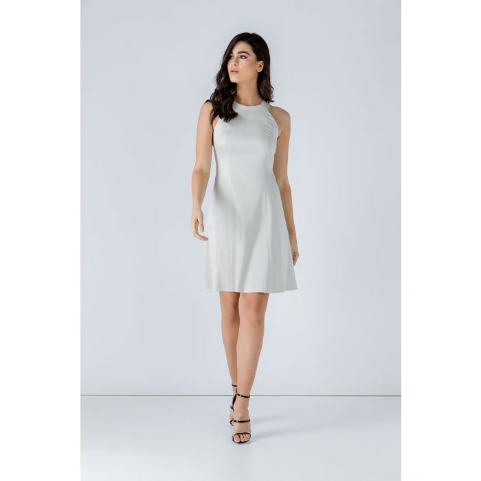 Image for A Line Sleeveless White Dress