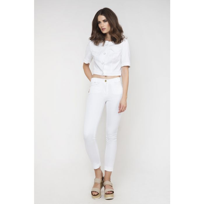 Image for White Cropped Jacket