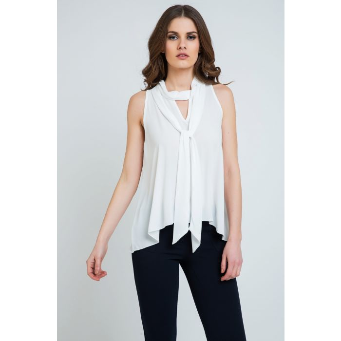 Image for Tie Detail Sleeveless Top Ecru