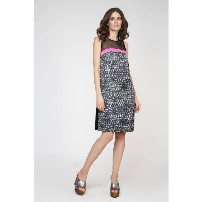 Image for Sleeveless A-Line Print Dress