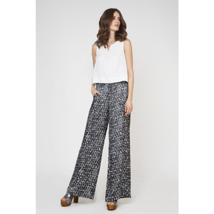 Image for Wide Leg Print Trousers