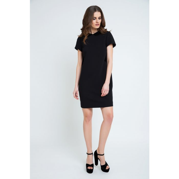 Image for Black Lace Detail Dress
