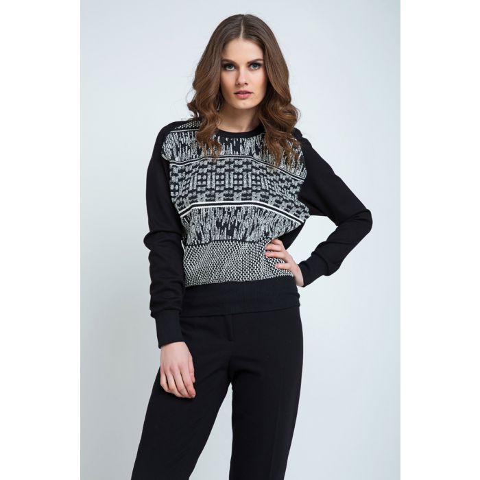 Image for Black and White Jumper
