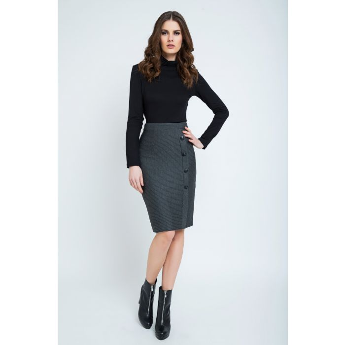 Image for Elegant Stripes Sheath Pencil Skirt