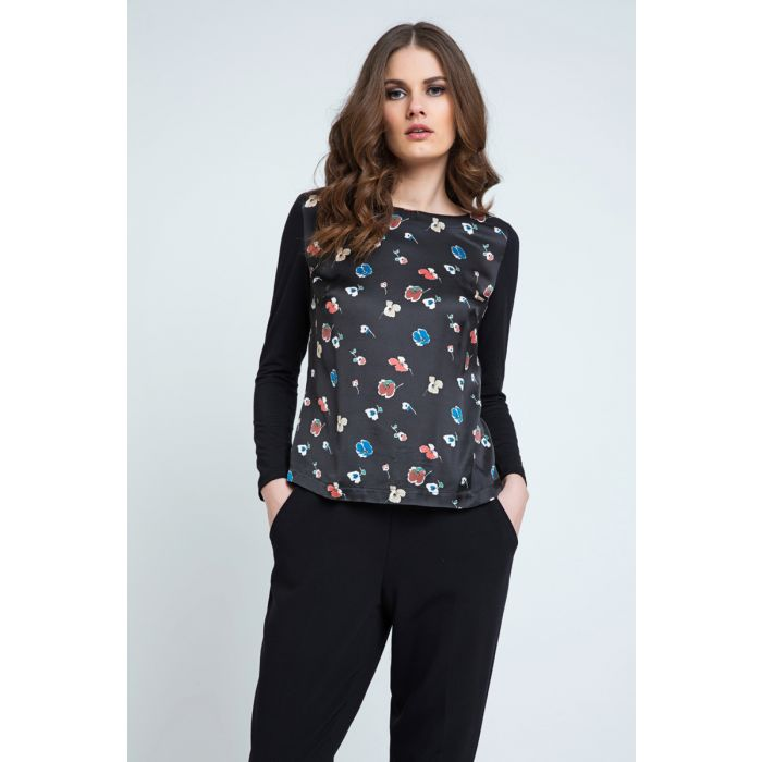 Image for Poppy Print Long Sleeve Top