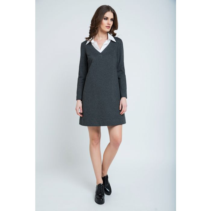 Image for Dress with Shirt Style Collar