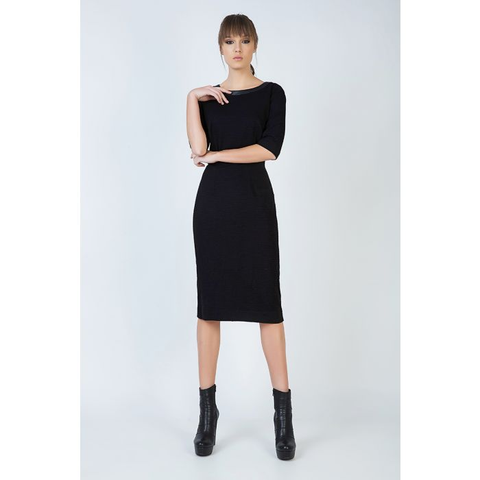 Image for Elbow Sleeve Straight Fitted Dress