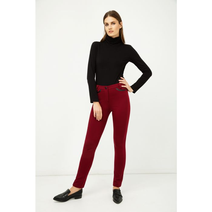 Image for Black Jersey Polo Neck  Top