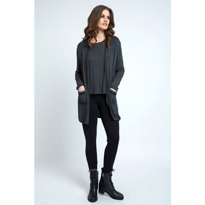 Image for Long Sleeve Fine Knit Cardigan