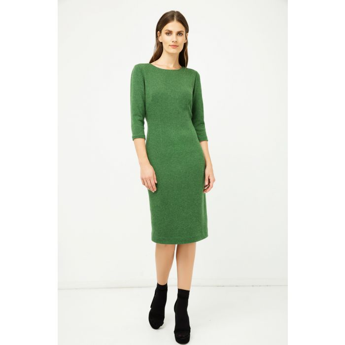 Image for Green Fitted Knit Dress