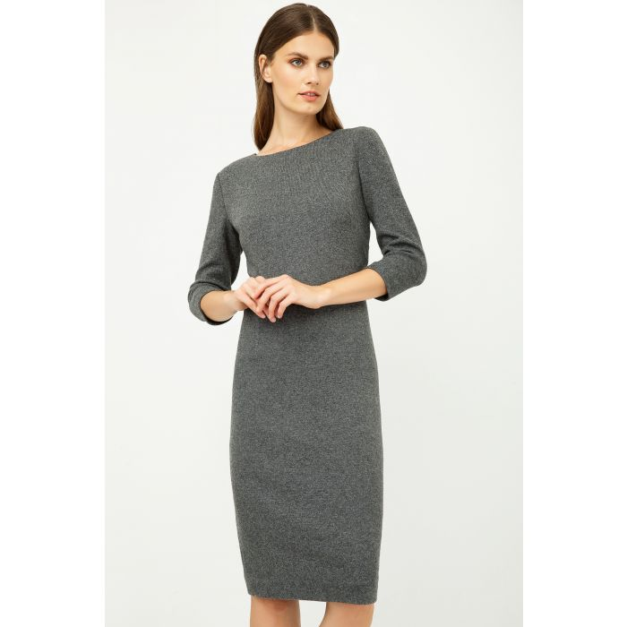 Image for Grey Fitted Knit Dress