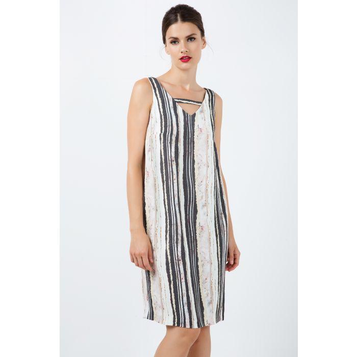 Image for Sleeveless Striped V Neck Dress