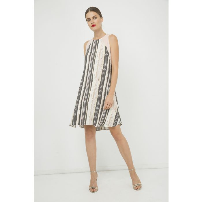 Image for Summer Striped A Line Dress