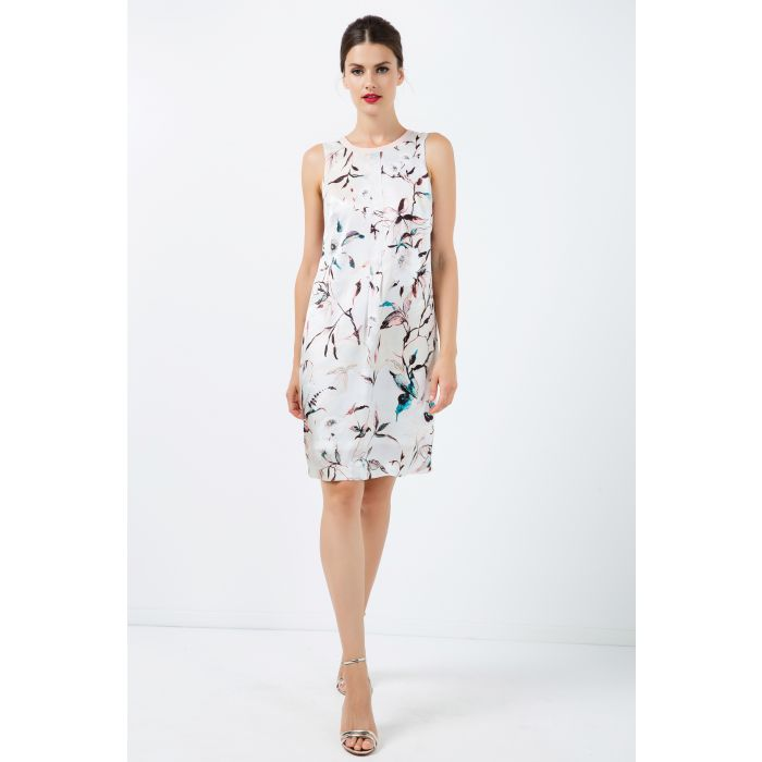 Image for A Line Sleeveless Satin Dress