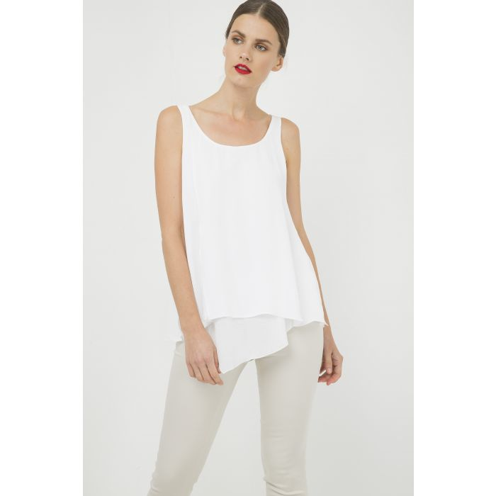 Image for Sleeveless White Layer Top