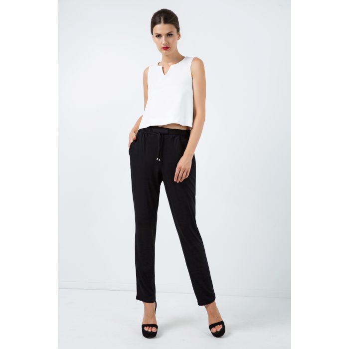 Image for Long Jersey Pants with Tie Detail