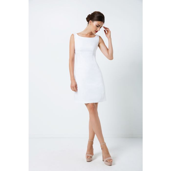 Image for White Sleeveless Empire Line Dress