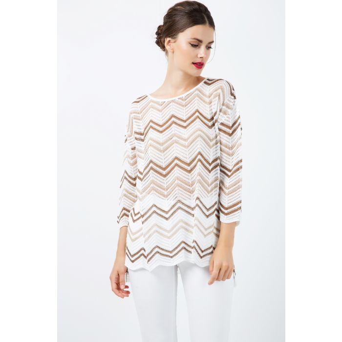 Image for Zig Zag 3/4 Sleeve Top