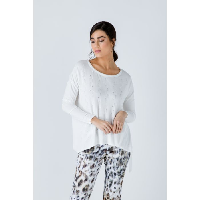 Image for Knit Jacquard Detail Top