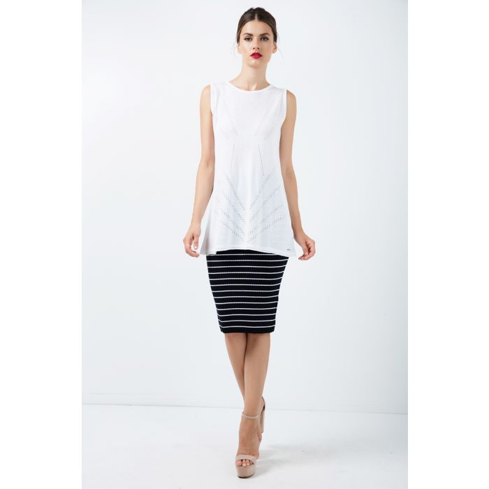 Image for Fitted Striped Skirt