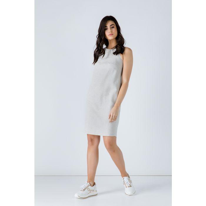 Image for Sand Colour Sleeveless Sack Dress