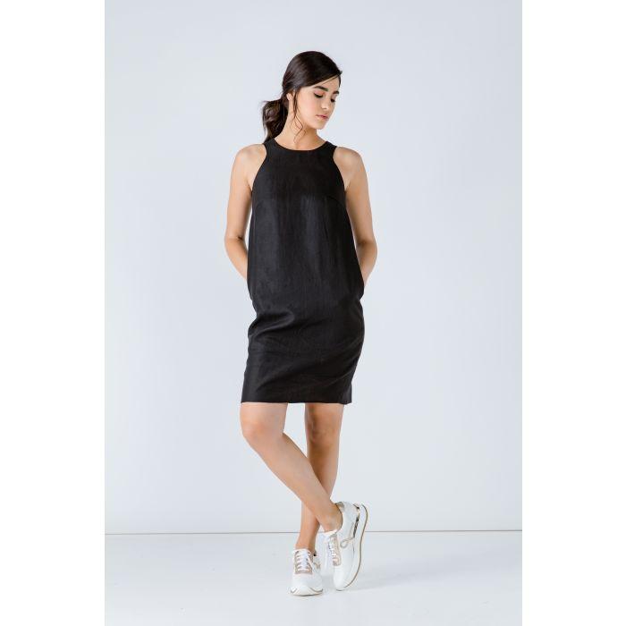 Image for Black Sleeveless Sack Dress