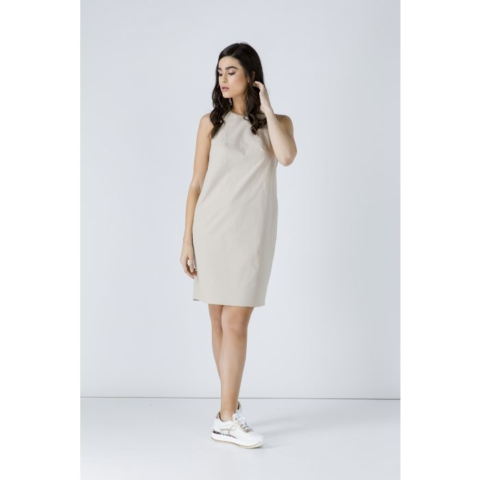 Image for Sand Colour Cotton Sack Dress