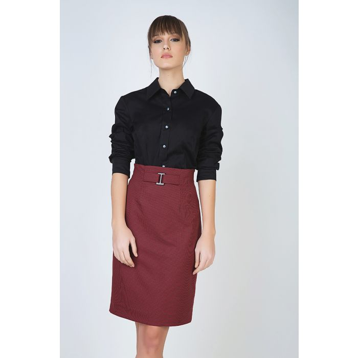 Image for Pencil Skirt with Belt Detail